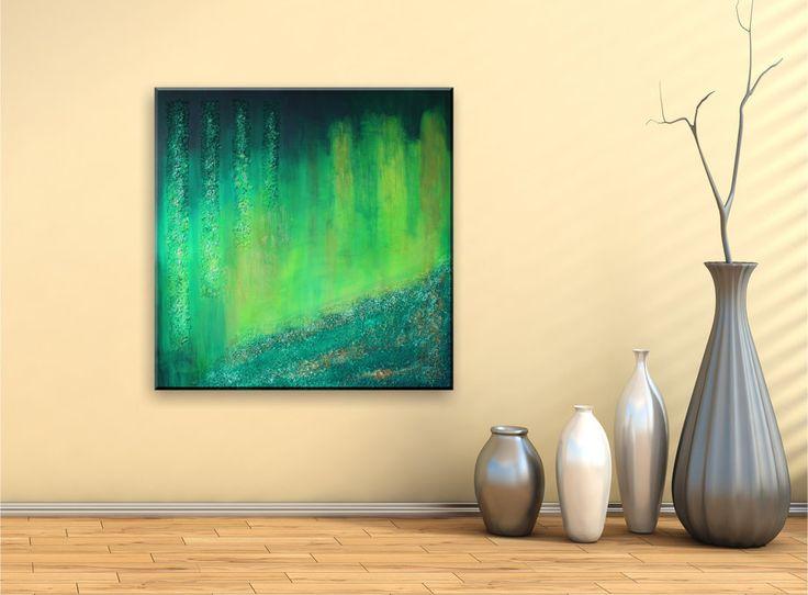 23 besten Abstract Green Bilder auf Pinterest Abstrakte - wandbilder wohnzimmer grun