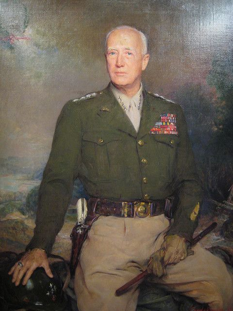 General George Patton - Painting at Portrait at National Portrait Gallery Washington DC