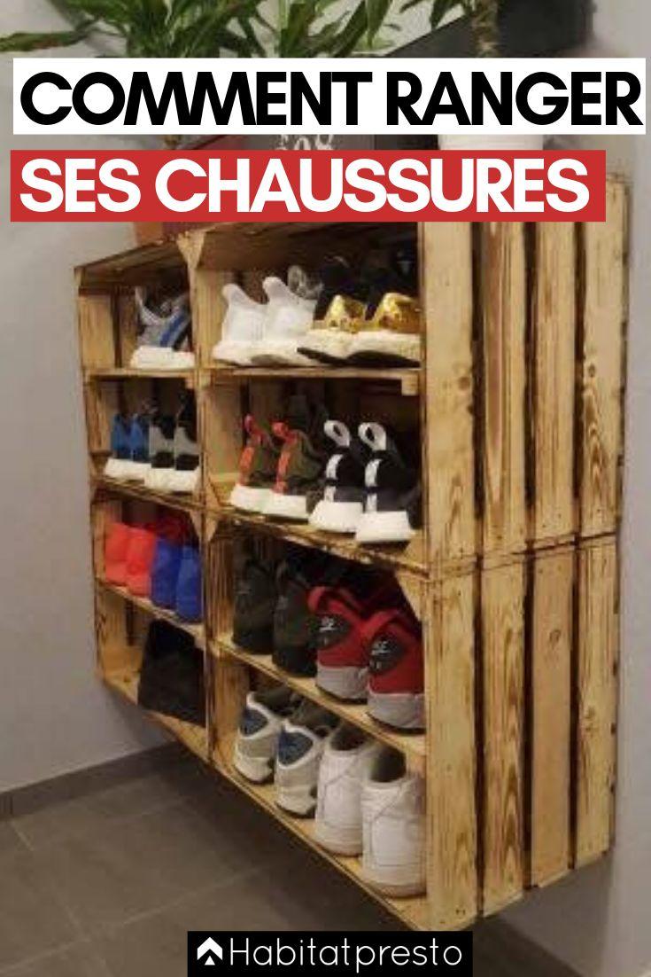 Trop de chaussures ? 6 astuces pour les ranger facilement | Rangement, Idee rangement chaussure ...