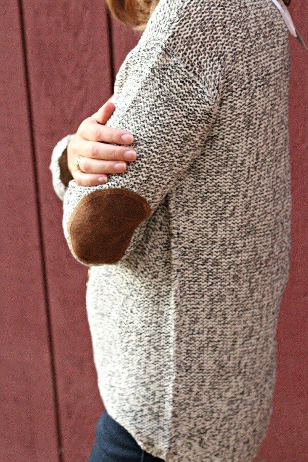 RD Style Maureen Twisted Seam Elbow Patch Sweater Stitch Fix