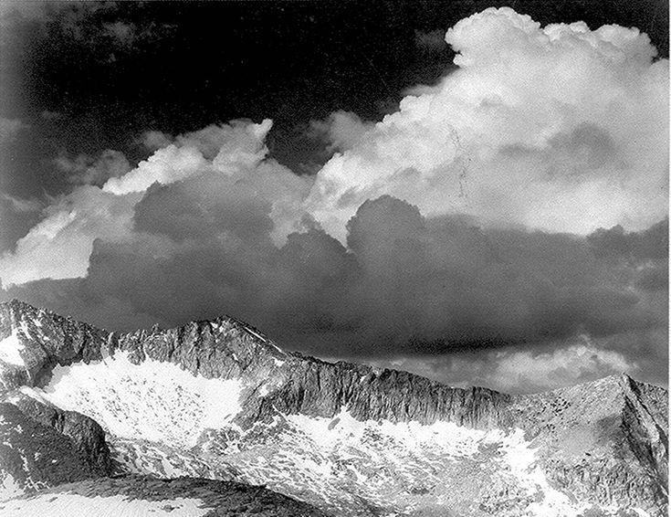 """Clouds - White Pass."" Ansel Adams"