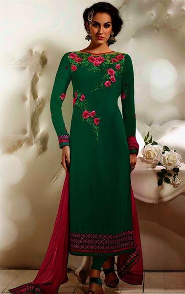 Premium Green Color Georgette Salwar Suit