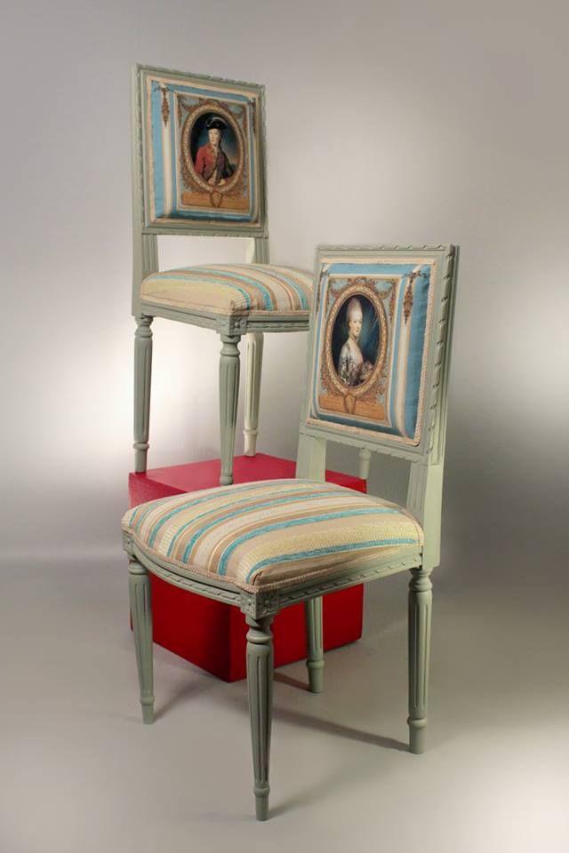 Antiguas sillas estilo luis xvi inspiradas en maria - Sillas estilo luis xvi ...