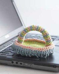 #Crochet Keyboard Duster