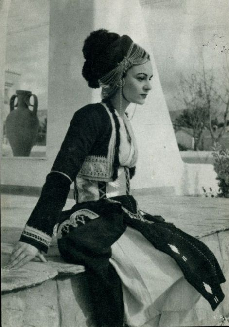 Woman with traditional costume from Roumlouki,Macedonia,Greece