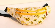 Unique fashionbanana design fanny pack belt by SiennaBartolomei