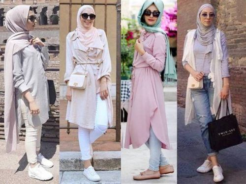 pastel-hijab outfits