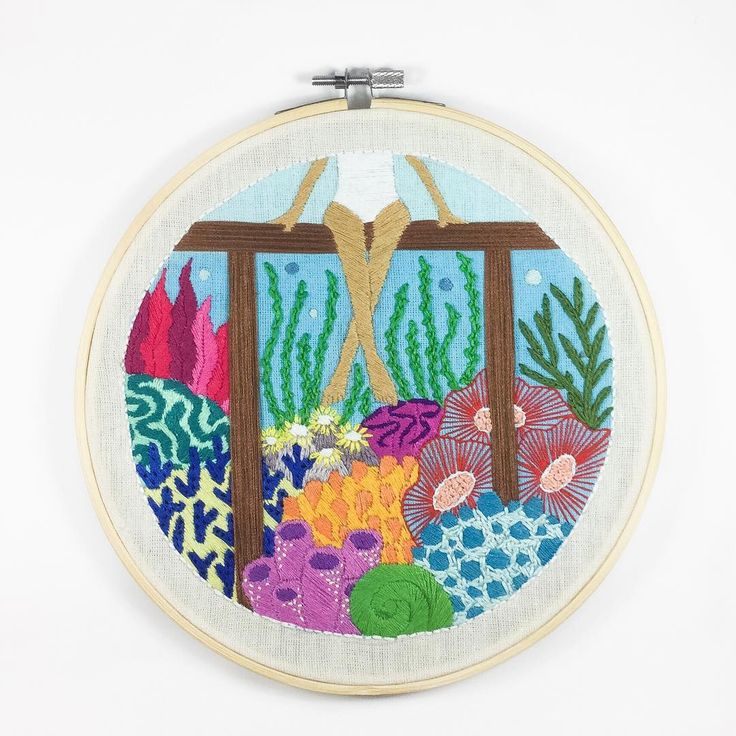 Undersea Embroidery #3 by Christa Gracia S