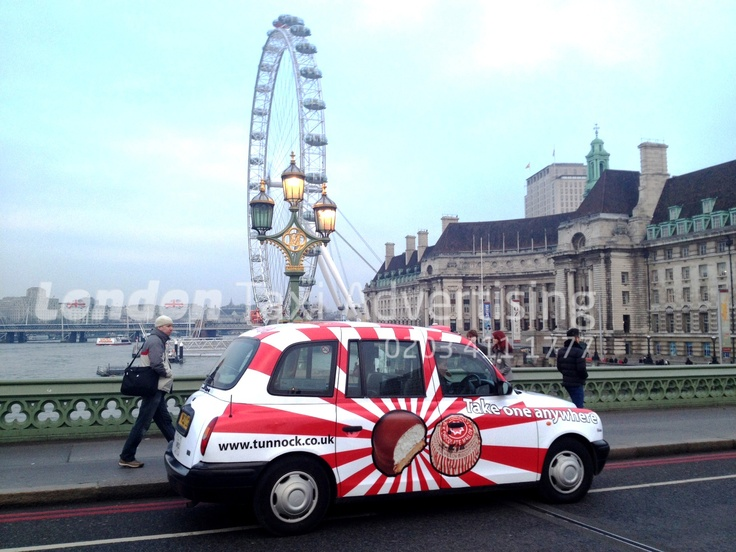 Mouth-watering Tunnocks #taxi #livery.