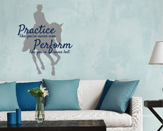 LARGE Dressage Horse Wall Decal Wall Quote Horse by thelatestBuzz