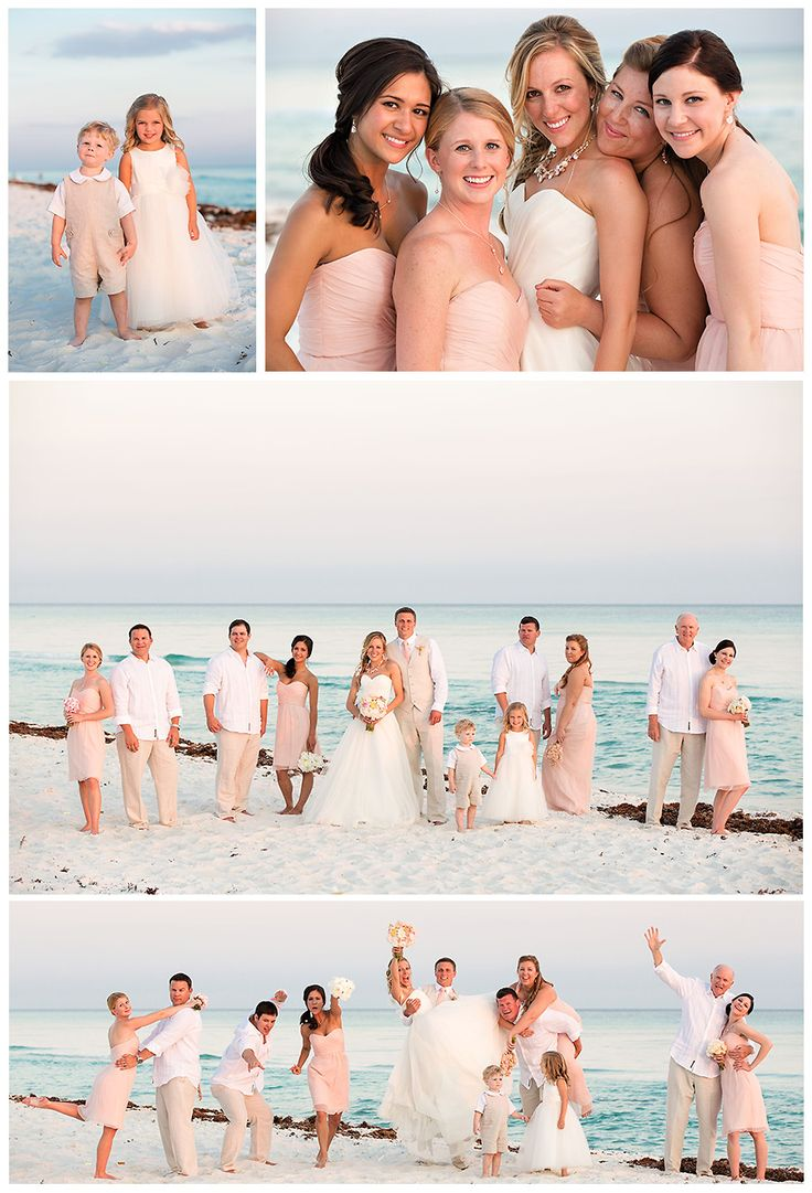 A beautiful, rustic, color combo for a beach wedding - blush, light pinks, and peaches -Rosemary Beach Destination Wedding - photos by candice k photography