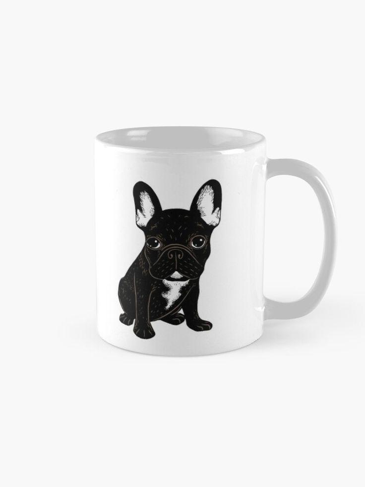Brindle French Bulldog Mug By Chee Sim Brindle French Bulldog French Bulldog Puppies French Bulldog