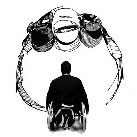 excellente association de 2 artistes sur le handicap, la différence...   http://pndk.wordpress.com/2012/11/23/spi/
