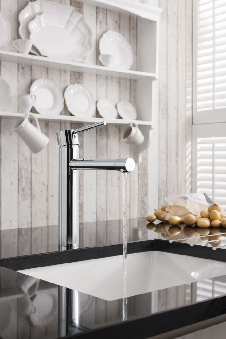 Cucina Kai Lever Monobloc Kitchen Mixer Tap from Crosswater. http://www.crosswater-cucina.co.uk/category/kai-lever/