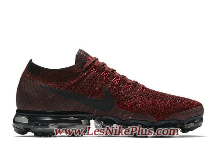 Sneaker Nike Air Vapormax Flyknit Chaussures Nike 2018 Pas Cher Pour Homme  Rouge Noir 849558-