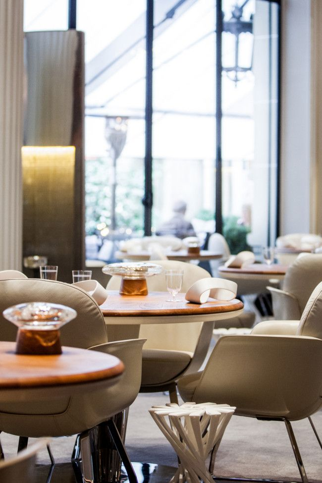 the multi michelin starred french chef has relaunched his restaurant at the plaza athne - Multi Restaurant Design