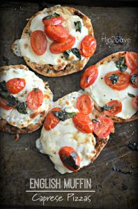 English Muffin Caprese Pizzas (Easy Lunch or Dinner Idea)