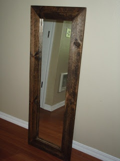 DIY Full Length Mirror.  Jazz up those cheap mirrors with this easy solution!