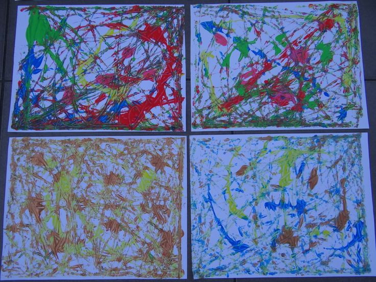 Fun activity for kids - marble painting