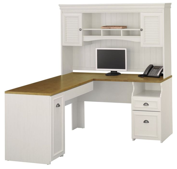 L-Shaped Desk and Hutch Set - Fairview Collection - Bush Office Furniture - FV-OSET-2