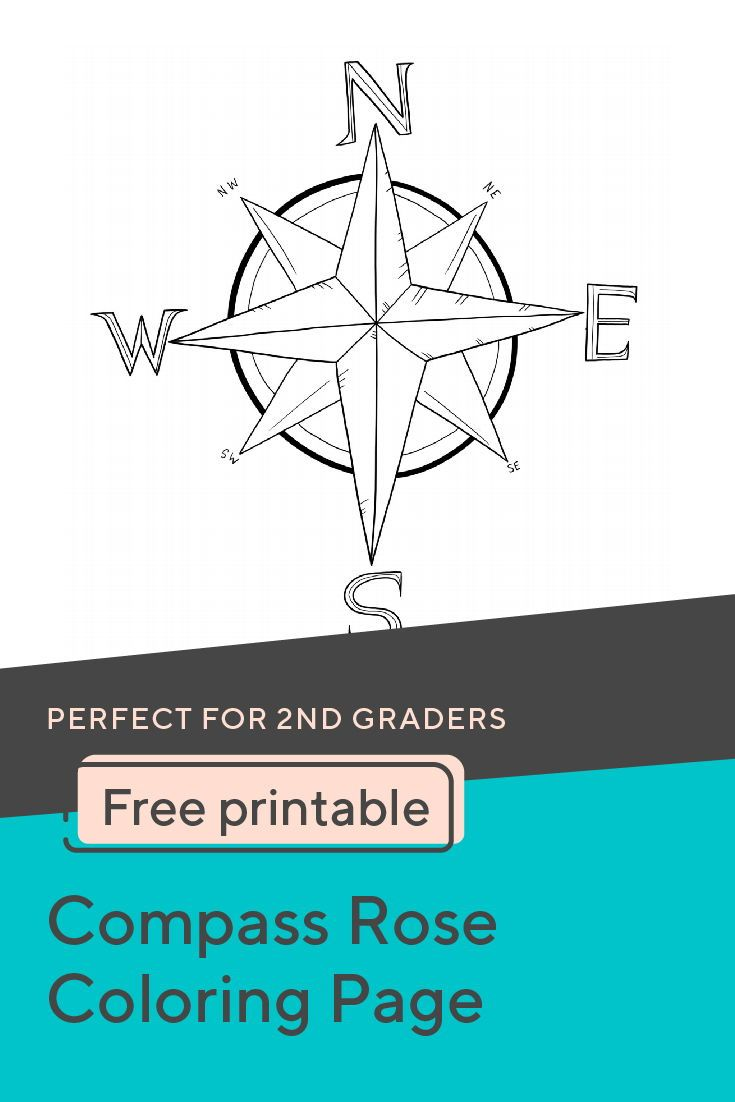 Compass Rose Coloring Page   Compass rose, Elementary activities