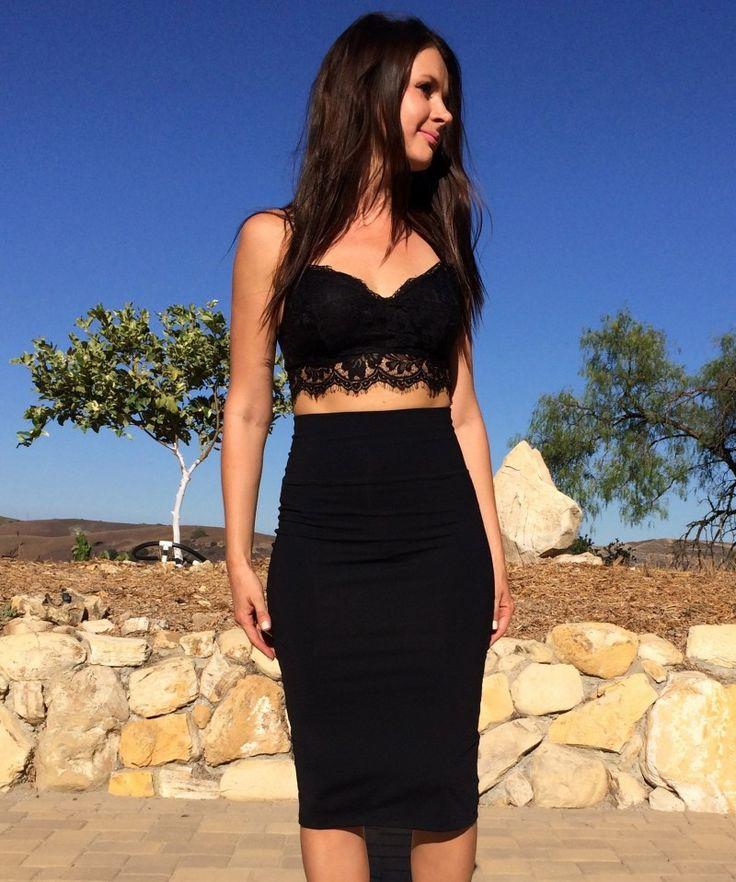 Black Lace Bralette Outfit