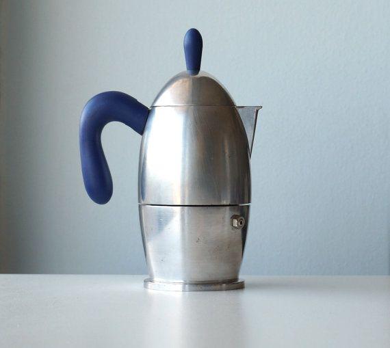 3 tasses, café percolateur GUZZINI vintage vintage moka italienne aluminium 90 Charlotte