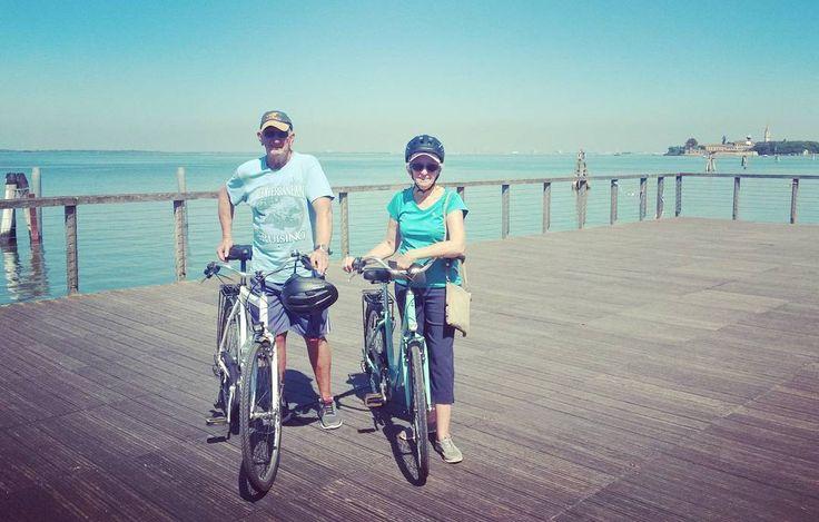 #bike #biketour #cycling #lagoon #venice @cyclecities @CyclingVenice #Malamocco.  Cycling Venice Lagoon.  Venice Lido Bike Tour