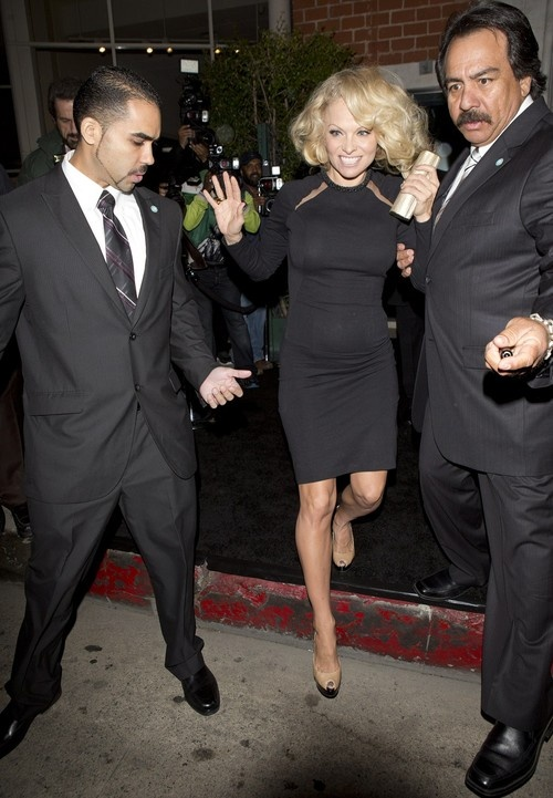 Pamela Anderson at Mr. Chow in Beverly Hills on April 25, 2013
