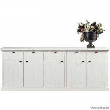 ll-fab111w-Fabian witte dressoir met 5 deuren en 5 lades 230 FAB 111W
