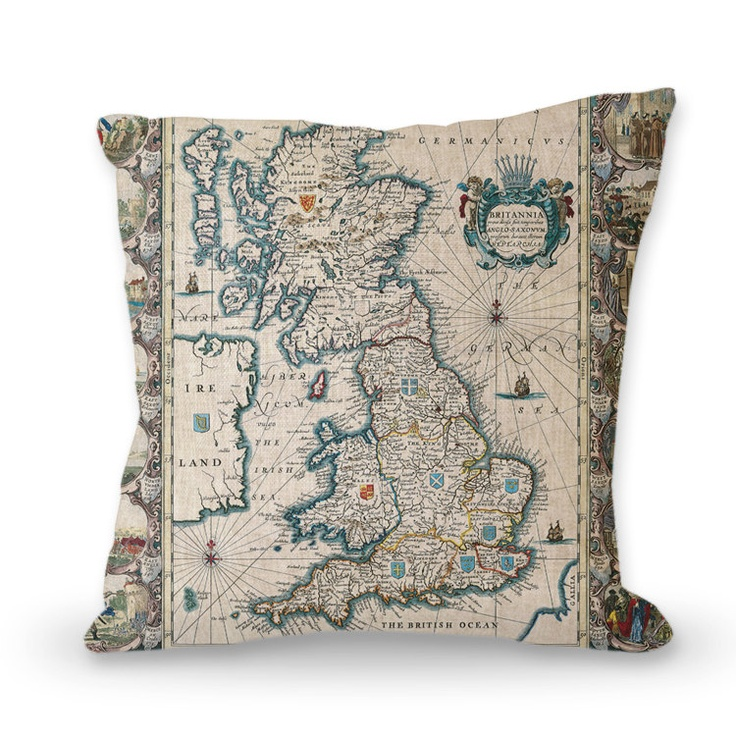 map pillow cover - world - 18 inchMap, pillow, restore ancient ways, new, household items, art, abstract. $29.00, via Etsy.