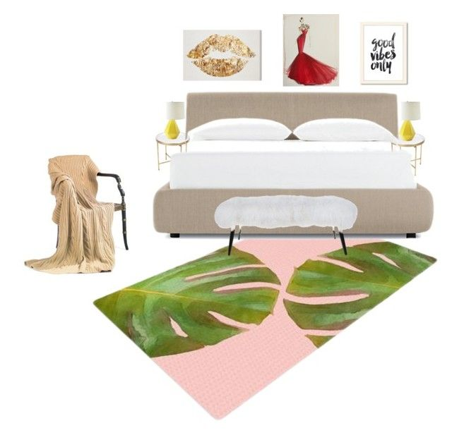 Feeling good bedroom by manon-bdm on Polyvore featuring interior, interiors, interior design, maison, home decor, interior decorating, Design Within Reach, Serena & Lily, bedroom and cosy