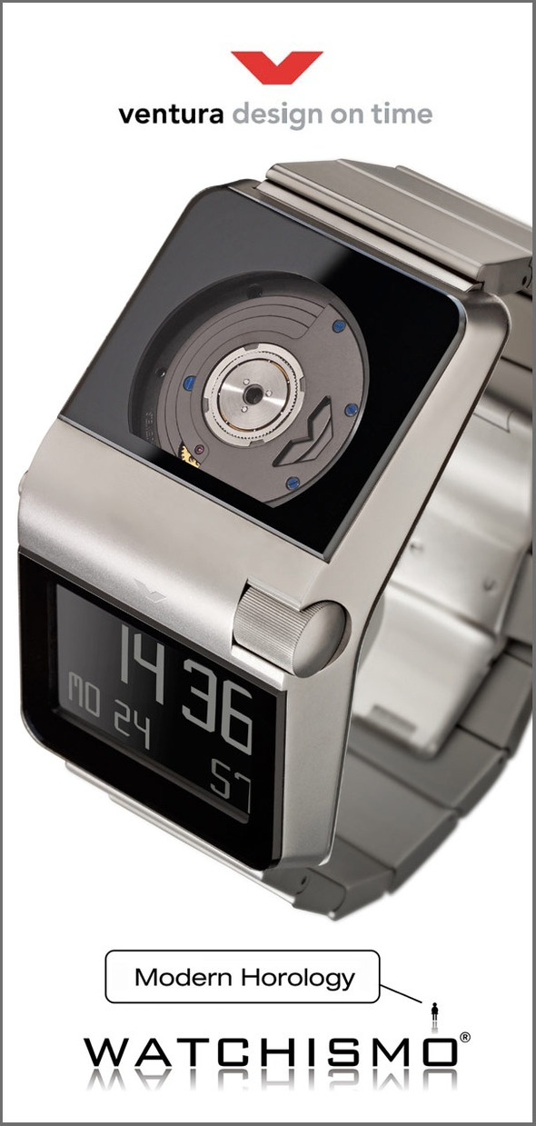 Ventura SPARC MGS  The world's first mechanical automatic digital watch