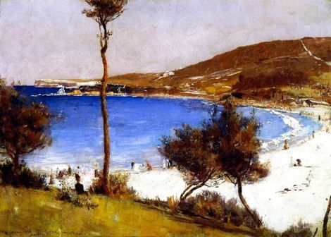 Tom Roberts, Holiday Sketch at Coogee on ArtStack #tom-roberts #art
