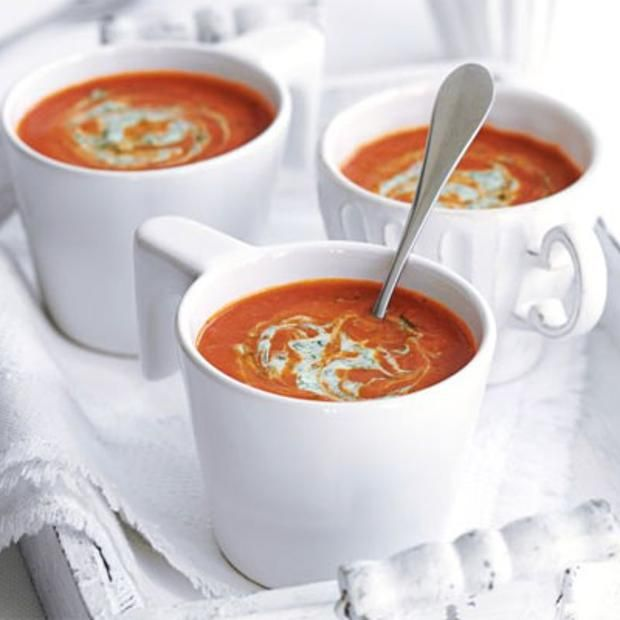 Tomato and tamarind soup with red lentils.