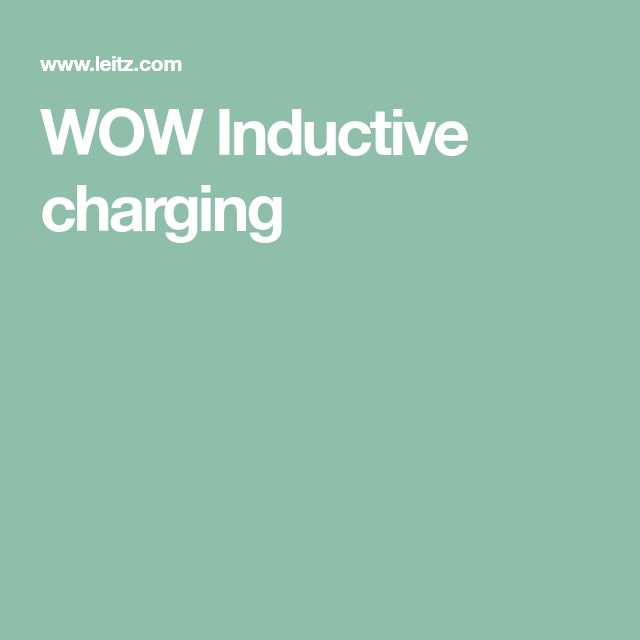WOW Inductive charging