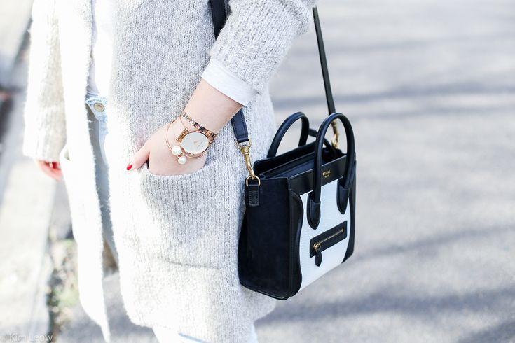 Zara Knit, Celine Bag, Marc Bale #rosegold accessories   kimleow.com