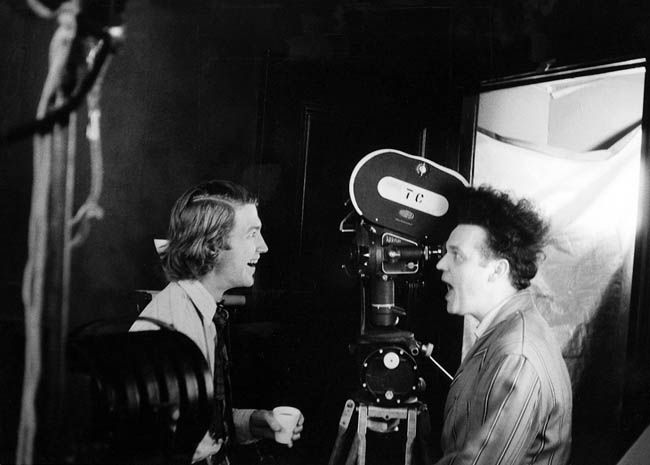 David Lynch and Jack Nance on the set of ERASERHEAD.
