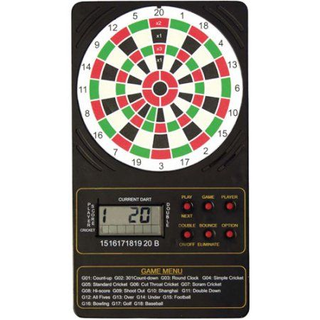 DMI Sports Electronic Single Display Touch Pad Dart Scorer, Multicolor