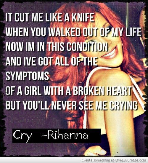 """""""Cry"""" Rihanna"""