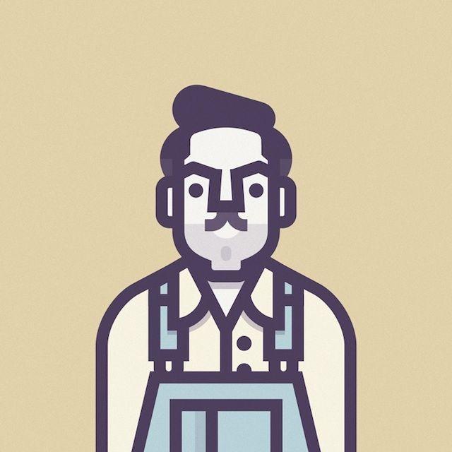 Illustrations of Coen's Movies Characters / Ulysses Everett McGill