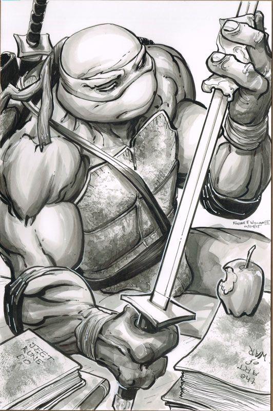 Teenage Mutant Ninja Turtles -Leonardo by Freddie E. Williams II