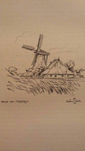 Molen Formerum / Anton Pieck