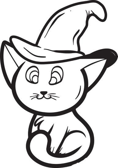 FREE Printable Halloween Cat Coloring Page For Kids