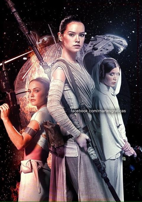 Star Wars Trilogy of Trilogies - Padme, Leia & Rey