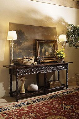 Lovely Mediterranean entry table and vignette | Century Furniture    ᘡղbᘠ
