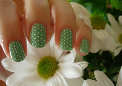 i am a nail art addict: Polka Dots, Nails Design, Spring Nails, Nails Ideas, Nails Art Design, Dots Nails, Green Nails, Art Nails, Nail Art