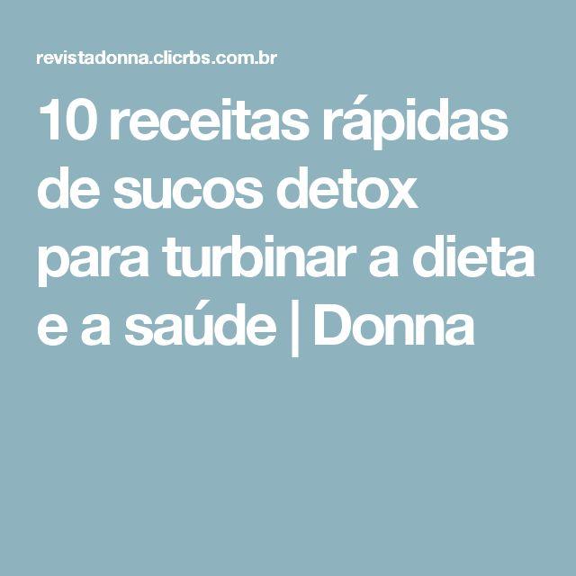10 receitas rápidas de sucos detox para turbinar a dieta e a saúde | Donna