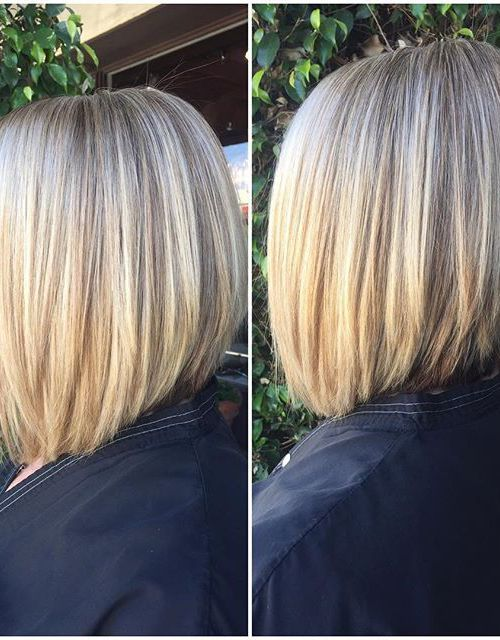 21 Eye-catching A-line Bob Hairstyles: #12. Medium A-line bob (for thick hair)
