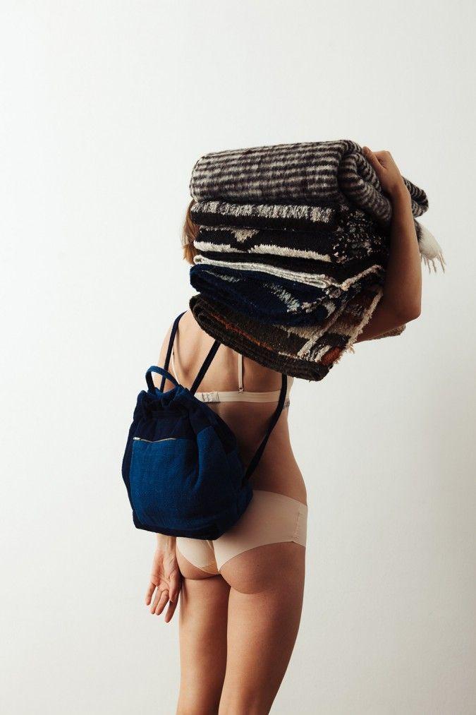 Lookbook | QUE ONDA VOS rugs/blanket/scarf/backpack